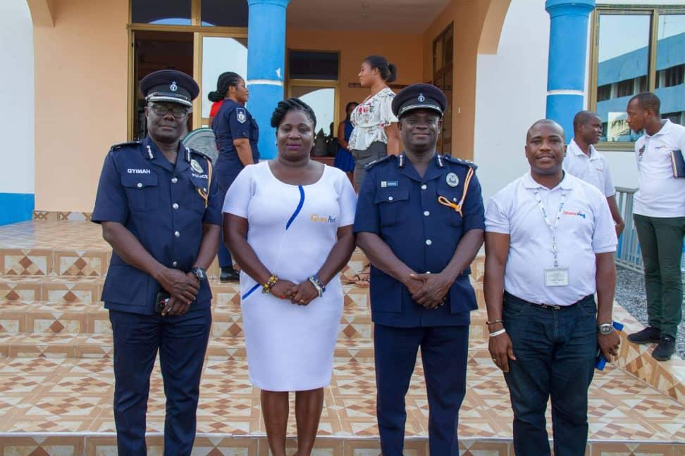 Kobi Hemaa Osisiadan with some officials of Customs in Ho
